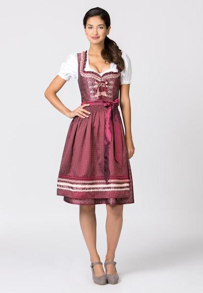 STOCKERPOINT Dirndl 'Giselle' in de kleur Bordeaux, Modelweergave