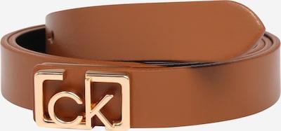 Calvin Klein Riem 'Plaque' in de kleur Cognac, Productweergave