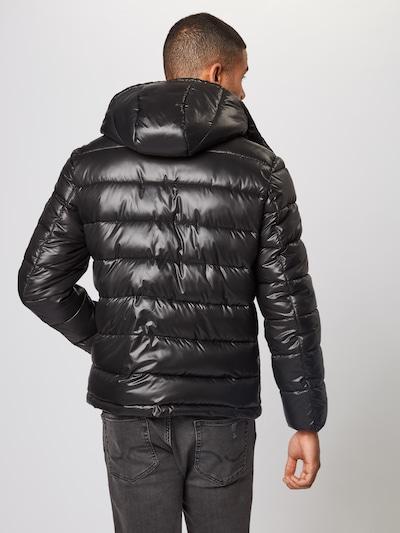 Pepe Jeans Veste d'hiver 'HUGH' en kaki / noir: Vue de dos