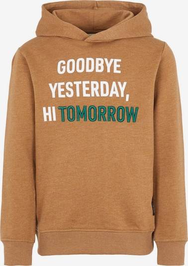 NAME IT Sweatshirt in karamell / grün / weiß, Produktansicht