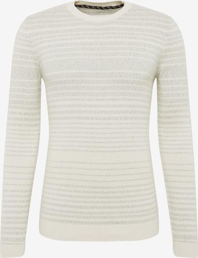 TOM TAILOR Pullover in grau / weiß, Produktansicht