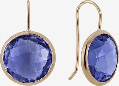 Zoccai Ohrhänger in gold / dunkellila, Produktansicht