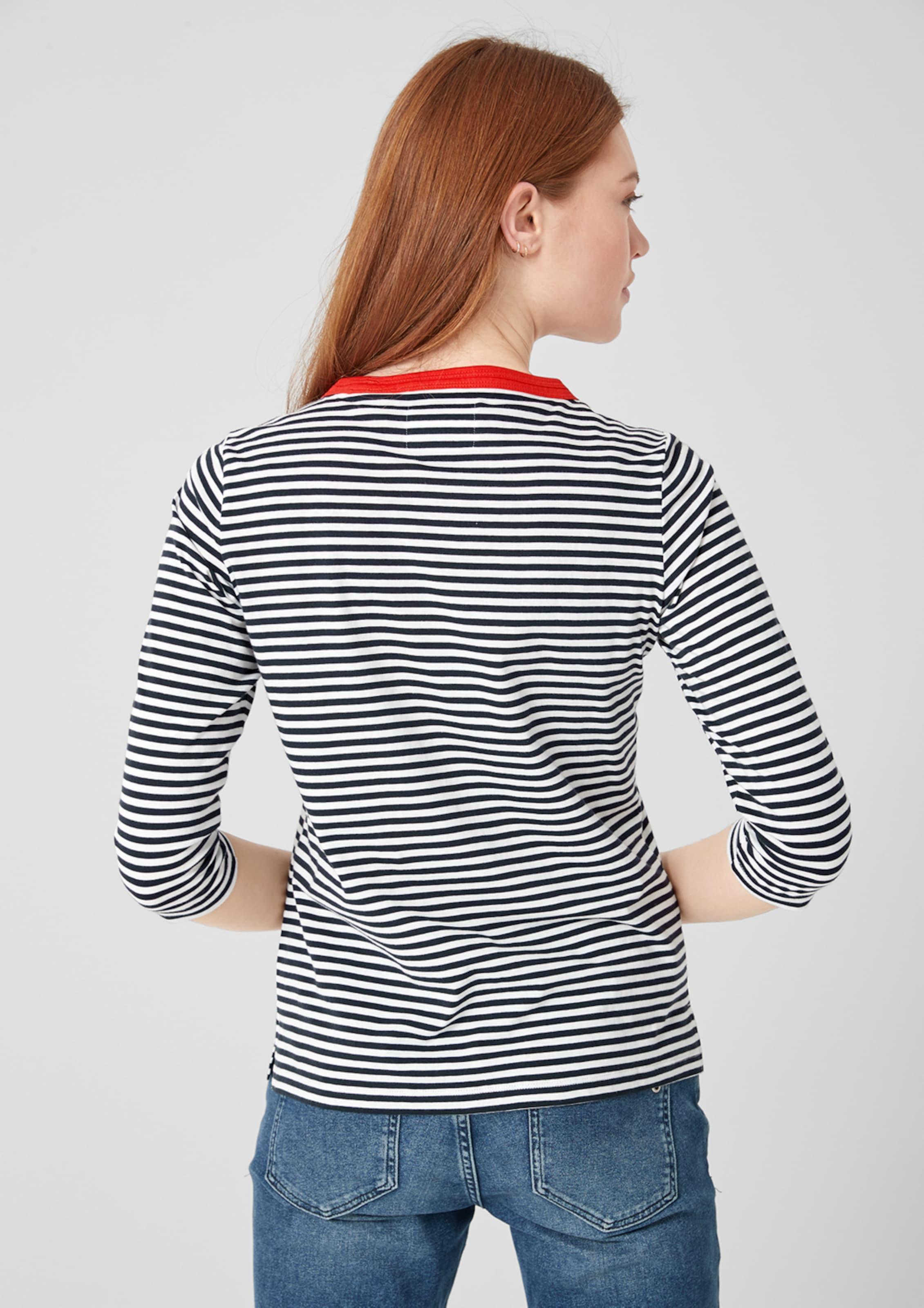 shirt Blanc 4 T Red Label arm' shirt 3 oliver 't S En BleuRouge Mit ulFKc5JT13
