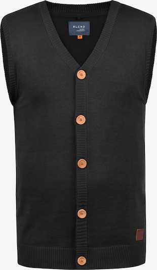 BLEND Strickweste 'Lennardo' in schwarz, Produktansicht
