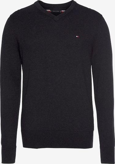 TOMMY HILFIGER Pullover »PIMA COTTON CASHMERE V NECK« in schwarz, Produktansicht