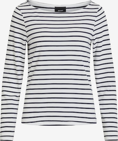 OBJECT Shirt in blau / weiß, Produktansicht