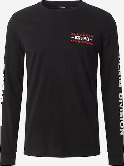 DIESEL Shirt 'DIEGOS' in de kleur Donkerrood / Zwart / Wit, Productweergave