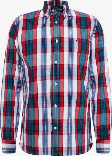 TOMMY HILFIGER Hemd in grün / mischfarben / rot, Produktansicht