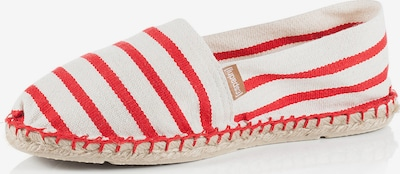 espadrij l´originale Espadrilles 'Classic' in ecru / rot, Produktansicht