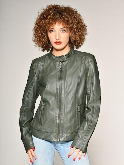 Maze Lederjacke 'Marcie' in khaki: Frontalansicht