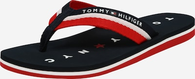 TOMMY HILFIGER Teenslipper 'Loves ny Beach' in de kleur Navy / Rood / Wit, Productweergave