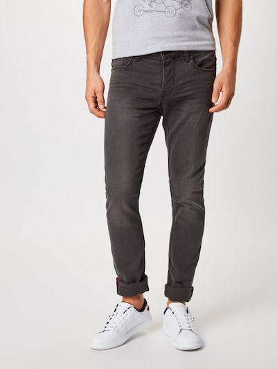 Only & Sons Jeans 'Loom' in black denim: Frontalansicht