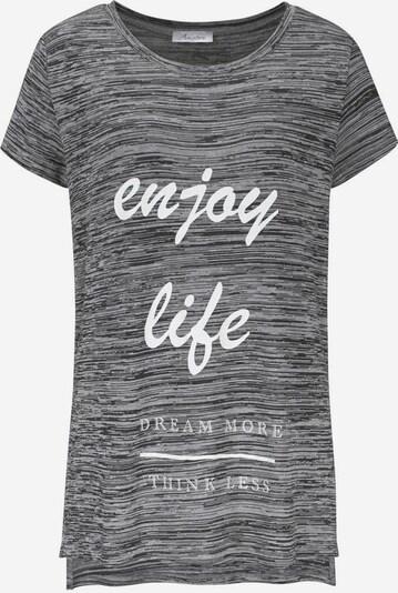 ANISTON Longshirt in graumeliert / weiß, Produktansicht