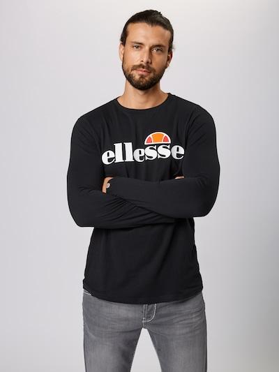 Tricou 'GRAZIE' ELLESSE pe negru: Privire frontală