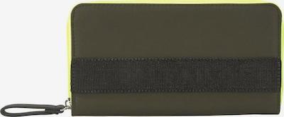 TOM TAILOR Portemonnaie 'GENOVA' in neongelb / oliv / schwarz, Produktansicht