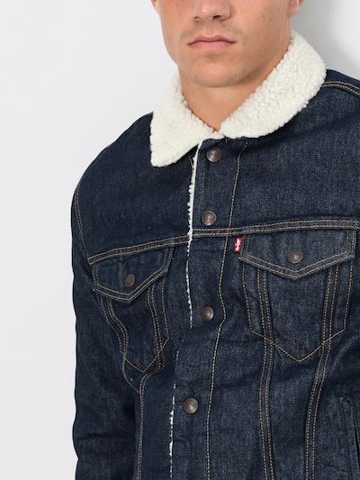 LEVI'S Jeansjacke 'TYPE 3 SHERPA TRUCKER' in beige / blue denim, Produktansicht