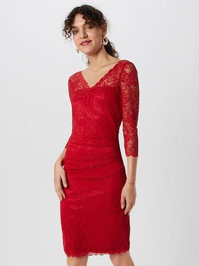 Kaffe Kleid 'Claudia' in weinrot, Modelansicht