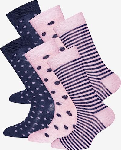 EWERS Chaussettes en marine / rose, Vue avec produit