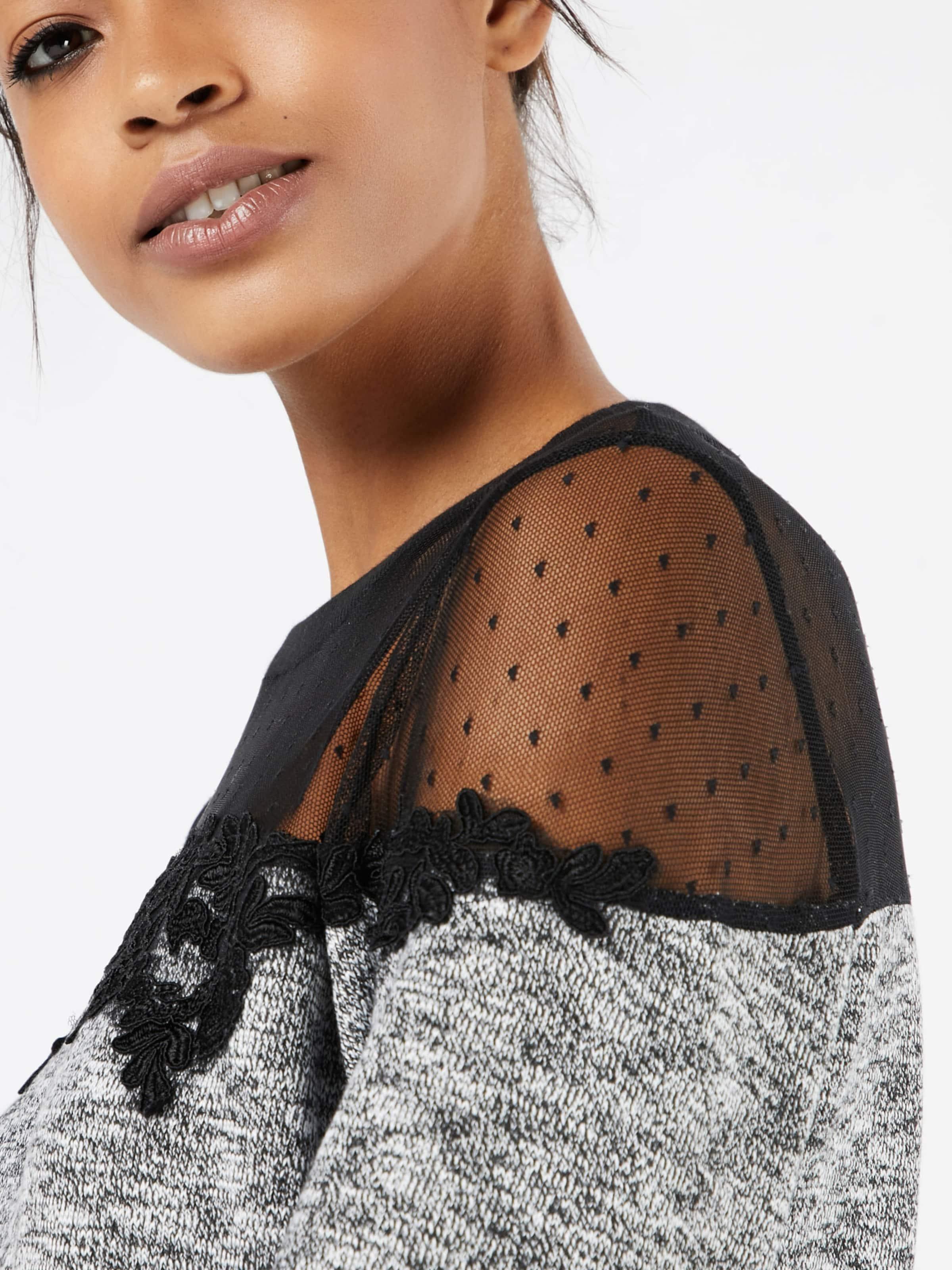 even&odd Oberteil mit Mesheinsatz 'Mesh Crochet Sweatshirt' Günstig Kaufen Breite Palette Von g7Y7G9