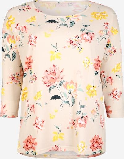 ONLY Carmakoma Shirt 'CARALBA' in de kleur Geel / Groen / Rosa, Productweergave
