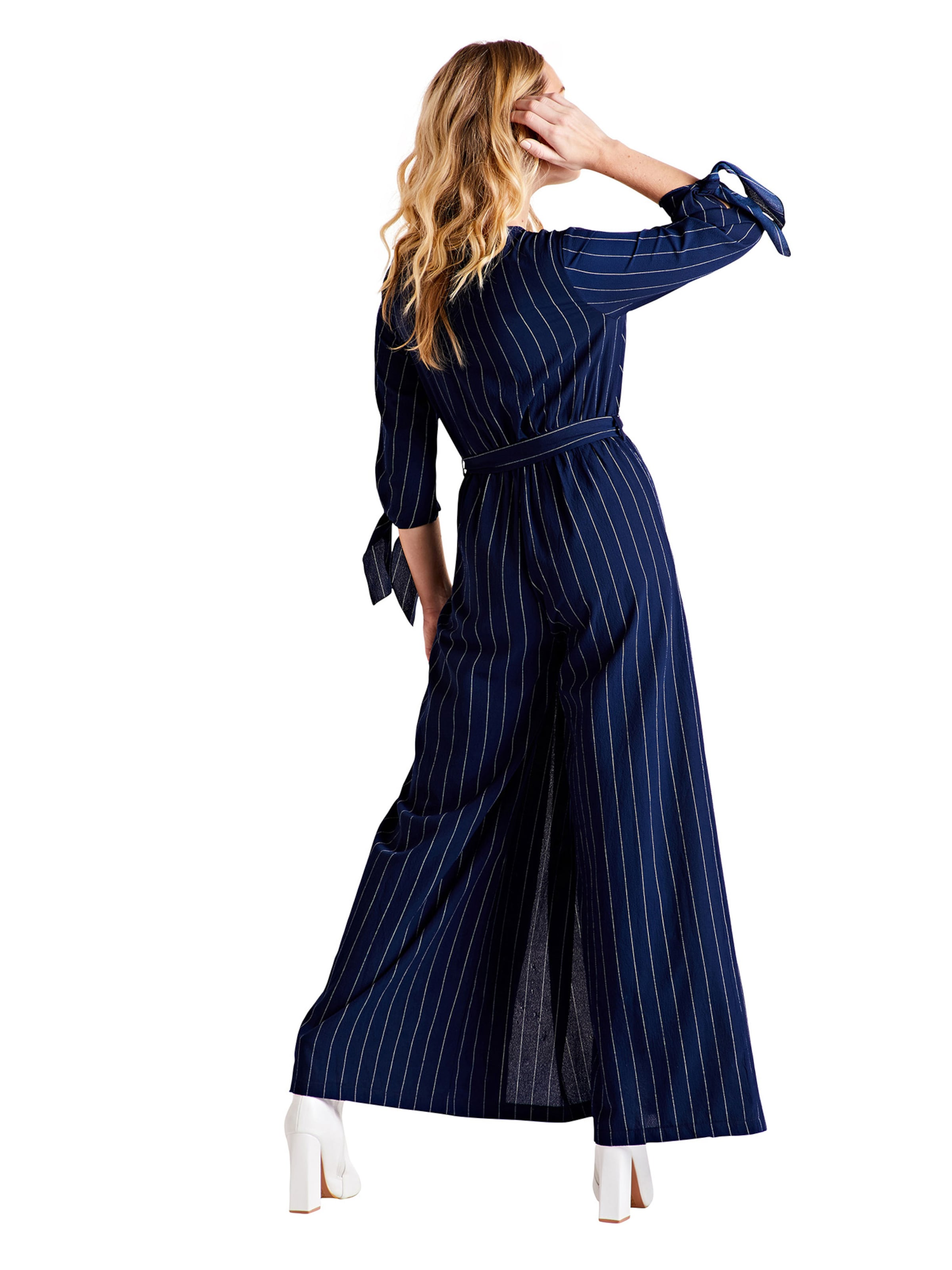 London Navy In Sleeve Overalls 'tie Jumpsuit' Mela L4Rjq5A3