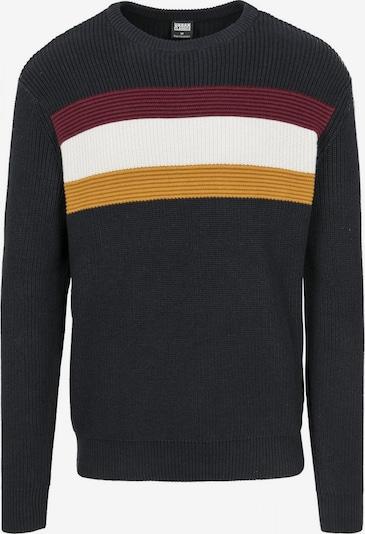 Urban Classics Sweater in navy / goldgelb / weinrot / offwhite, Produktansicht
