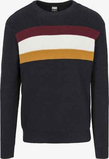 Urban Classics Pullover in navy / goldgelb / weinrot / offwhite, Produktansicht