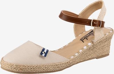 UNLIMITED Sandale in nude / braun, Produktansicht