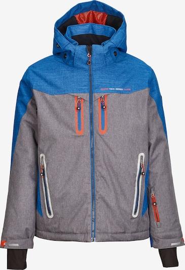 KILLTEC Skijacke 'Kolja Jr' in blau / graumeliert: Frontalansicht