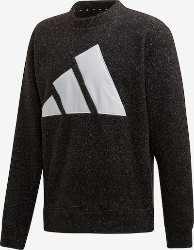 ADIDAS PERFORMANCE Sweatshirt 'The Pack' in schwarzmeliert / weiß, Produktansicht