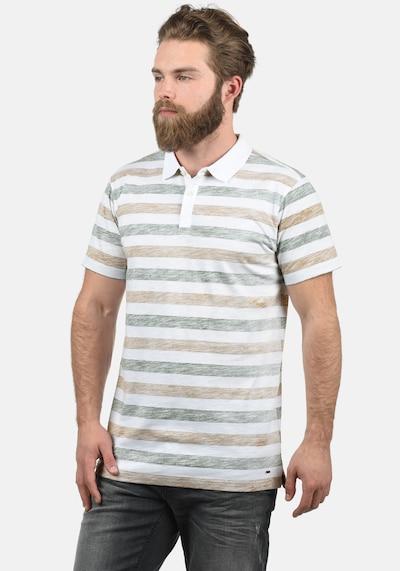 !Solid Poloshirt 'Teto' in braun / weiß: Frontalansicht