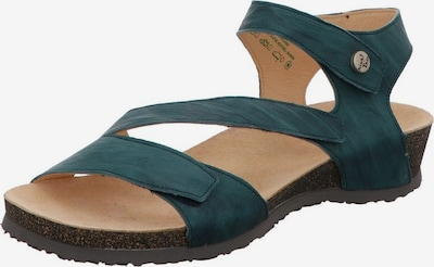THINK! Sandalen/Sandaletten in himmelblau: Frontalansicht