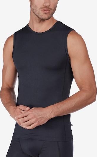 HUBER Unterhemd 'Tyson' in schwarz: Frontalansicht