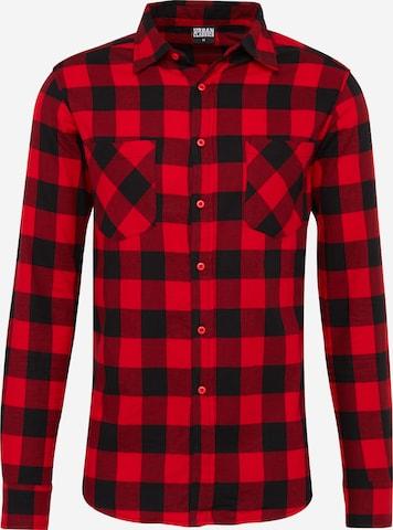 Urban Classics Hemd in Rot
