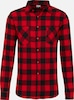 Urban Classics Hemd 'Checked Flanell' in rot / schwarz