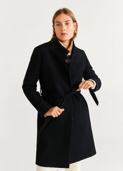 MANGO Mantel 'Tierra6' in schwarz, Modelansicht