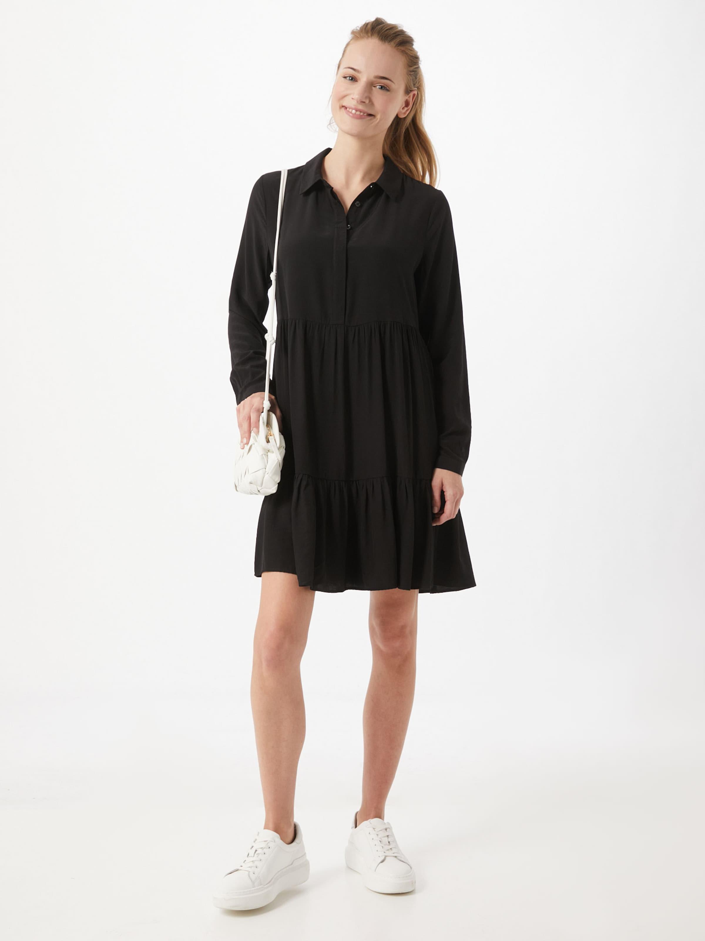 VILA Skjortklänning i svart