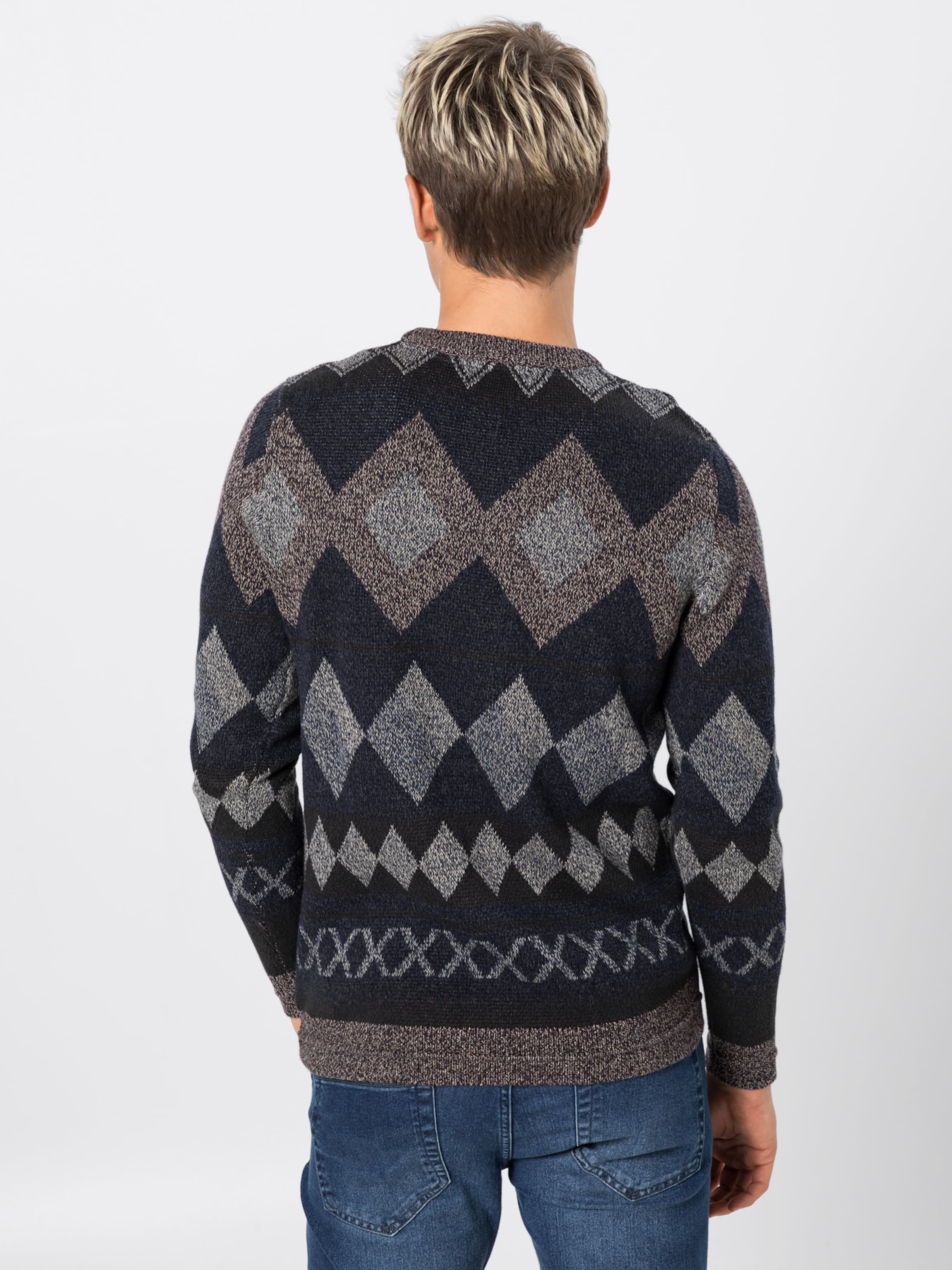 Crew 'jprwest Jackamp; Jones Neck' Basaltgrau Knit In Pullover OPn0w8kX
