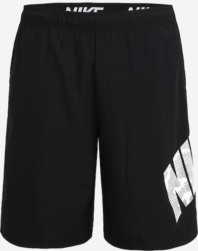 NIKE Športne hlače | črna / bela barva, Prikaz izdelka