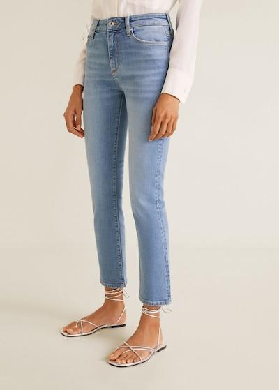MANGO Jeans 'Straight' in blue denim, Modelansicht