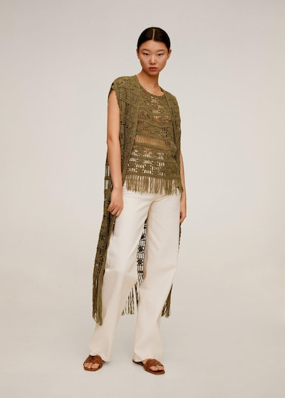 MANGO Strickjacke 'Kala' in khaki, Modelansicht