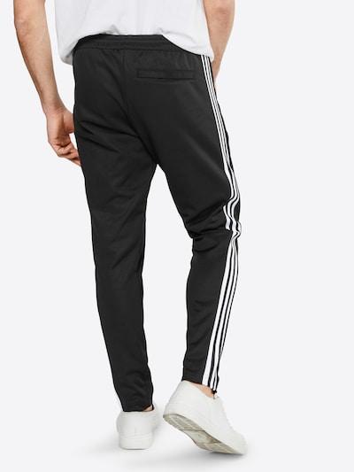 ADIDAS ORIGINALS Jogginghose in schwarz / weiß: Rückansicht