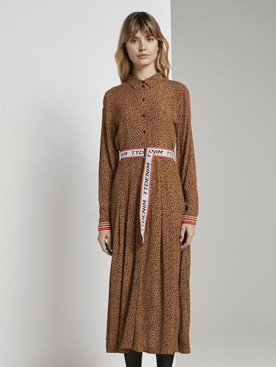 TOM TAILOR DENIM Kleid in karamell / schwarz, Modelansicht