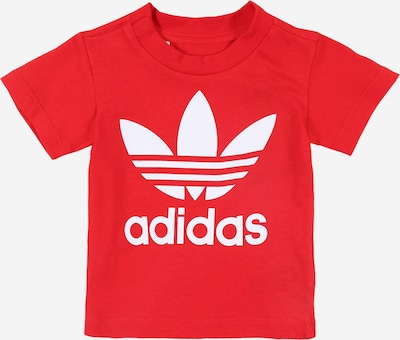 ADIDAS ORIGINALS Shirt 'TREFOIL' in red / white, Item view