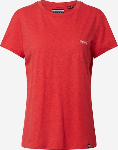 Superdry T-shirt 'ORANGE LABEL' en rouge: Vue de face