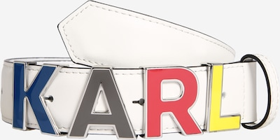 Karl Lagerfeld Ledergürtel in mischfarben / weiß, Produktansicht