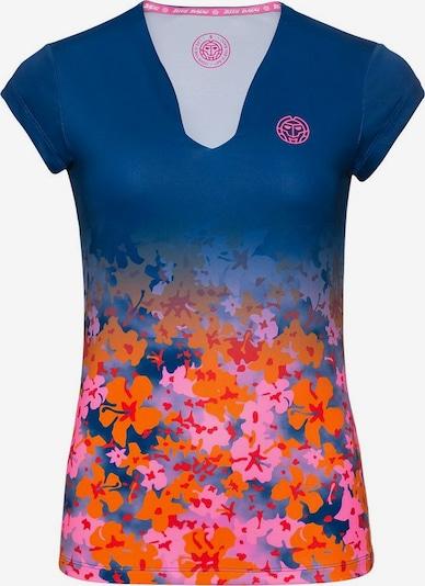 BIDI BADU T-Shirt 'Bella 2.0 Tech' in blau / dunkelorange / pink / hellrot, Produktansicht