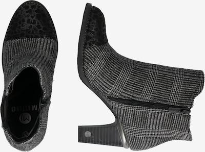 MUSTANG Stiefelette in grau / schwarz: Seitenansicht