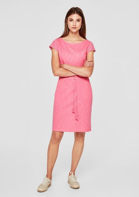 S.Oliver rot LABEL Kleid Kleid Kleid in Rosa  Große Preissenkung bd6075