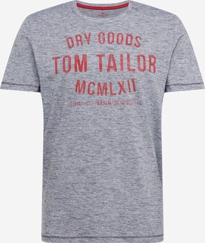 TOM TAILOR Shirt in de kleur Navy / Wit: Vooraanzicht